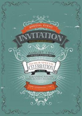 Vintage Invitation Poster Background