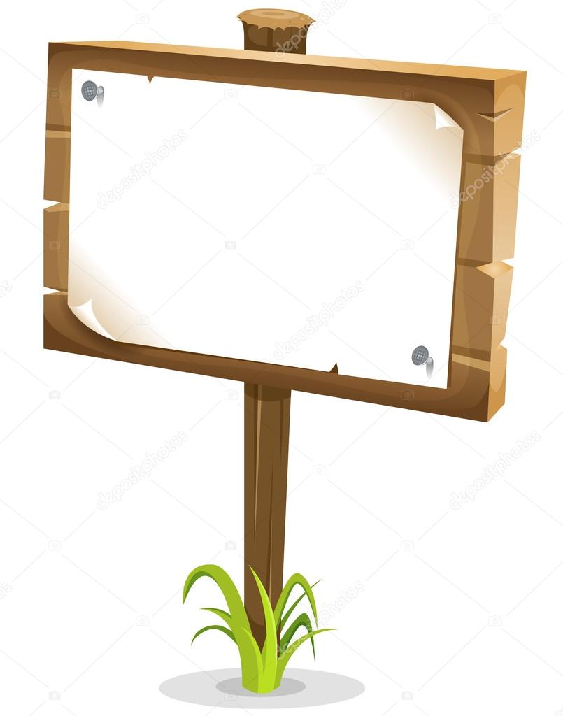 Cartoon Wood Sign