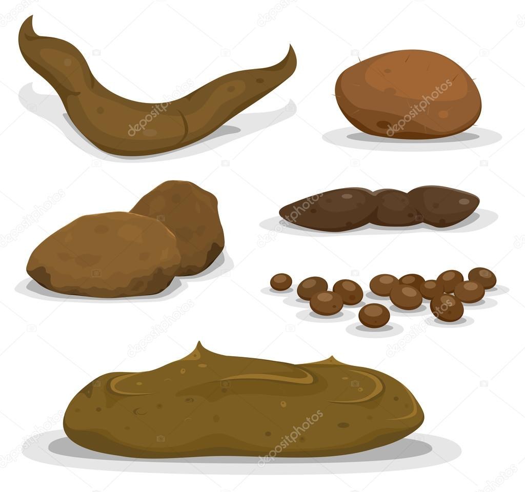Cartoon Various Animals Dung Set
