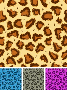 Seamless Leopard Or Cheetah Fur Background
