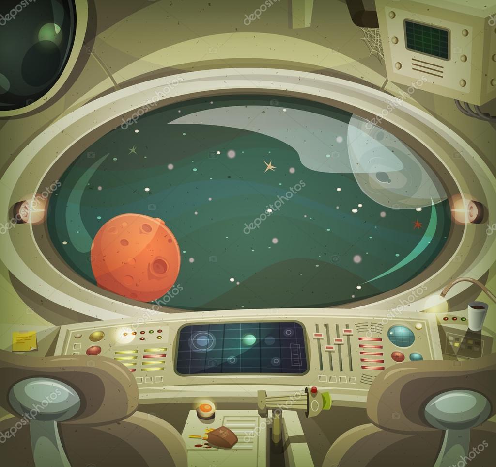 Interior de la nave espacial vector de stock benchyb for Interior nave espacial