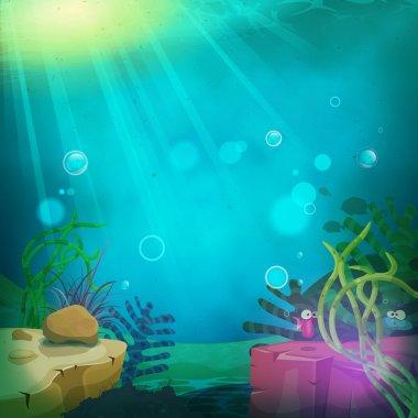 Funny Submarine Ocean Landscape