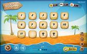 Fotografia Desert Island gioco User Interface Design per Tablet