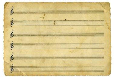Old empty music sheet version