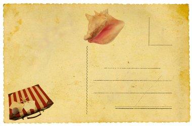 Summertime postcard isolated on white stock vector