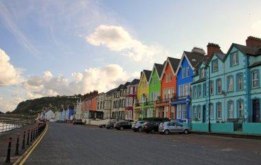 Small coloured irish village