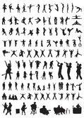 Fényképek sziluettek tánc  zene