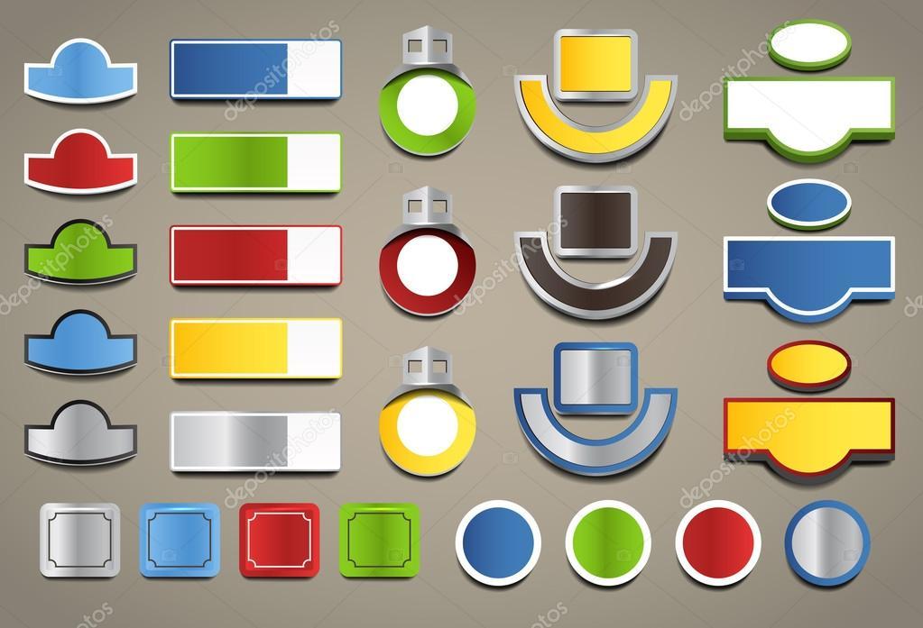 Dirección casa color tableros colección de plantilla — Vector de ...
