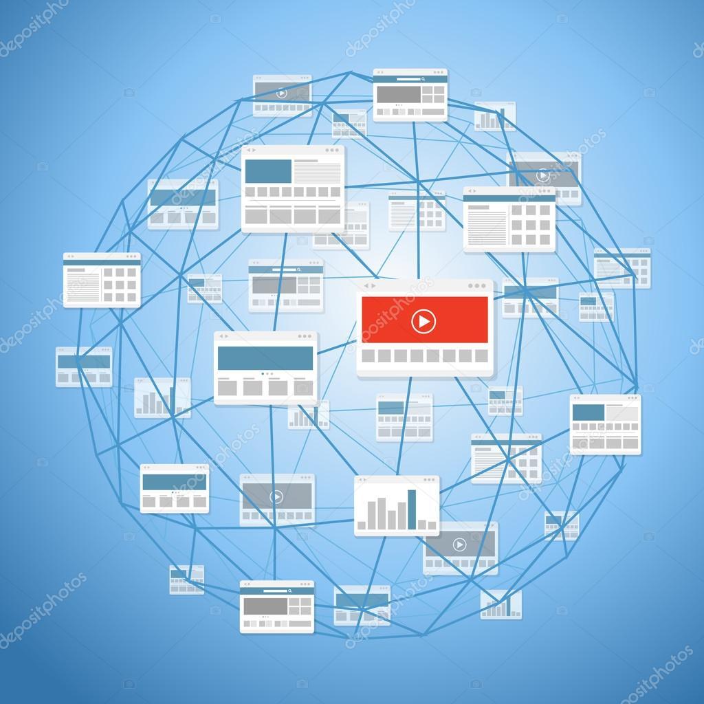 schema astratto di moderni mezzi di comunicazione digitale sito ...