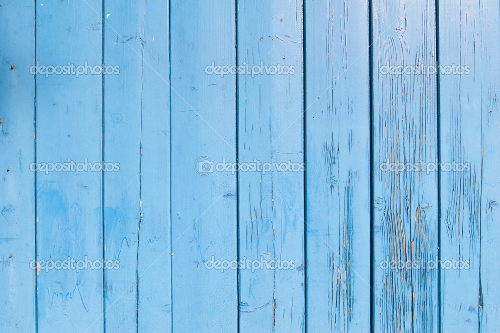 Light Blue Paint On Old Shed U2014 Stock Photo