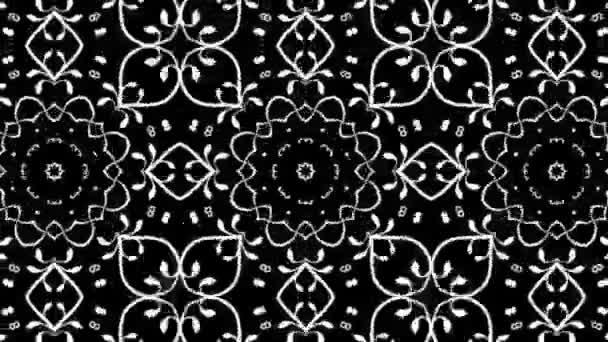 Květinový design s kaleidoskopický efekt