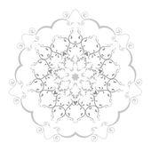 symetrické květinový design