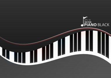 Vector piano keyboard