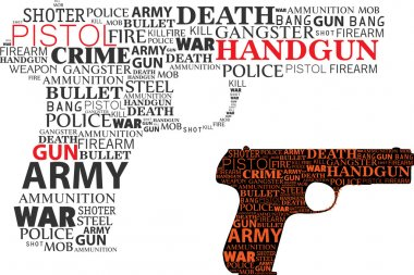 Typographic handgun