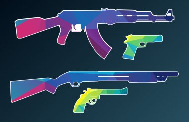 Triangle vector collection of weapon