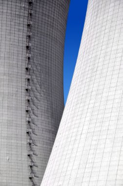 Close-up of the cooling towers