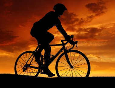 Cyclist riding a road bike