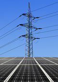 solární panely s vedení