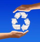 Fotografie recyklované symbol z mraků