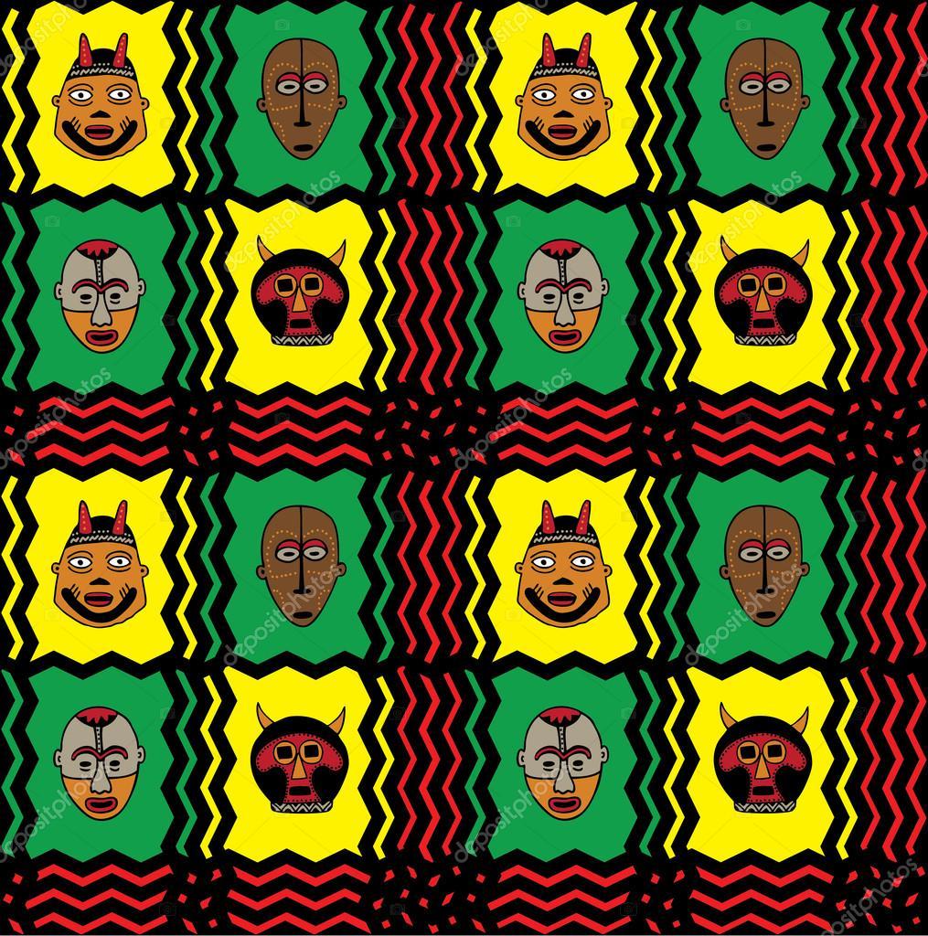 Dukepope: Padrão De Máscara Africana