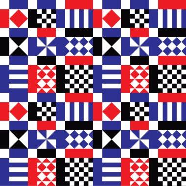 Retro Geometric Shapes Pattern