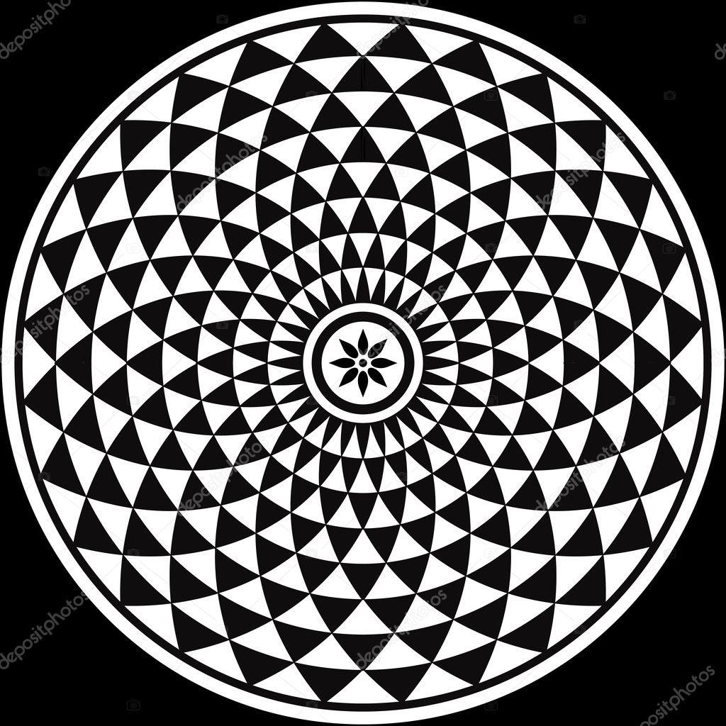 Black And White Circular Fractal Stock Vector 169 Dukepope