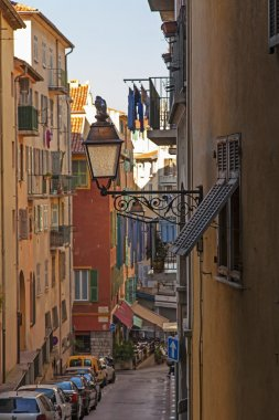 France , Cote d'Azur . Nice, narrow street of the old town