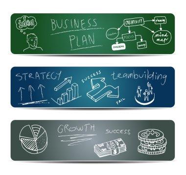 Business Doodles on a Blackboard