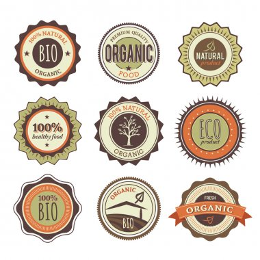 Set of Organic Badges