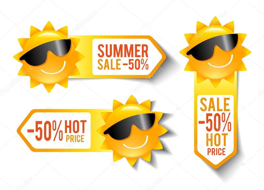 Summer Sales Stickers
