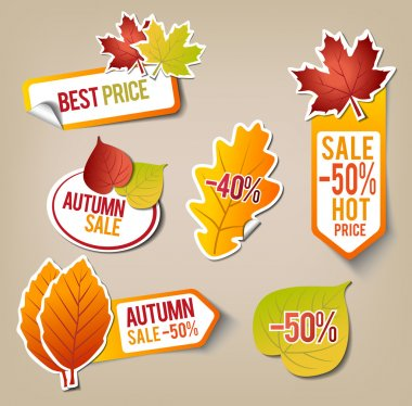 Autumn Sale Stickers