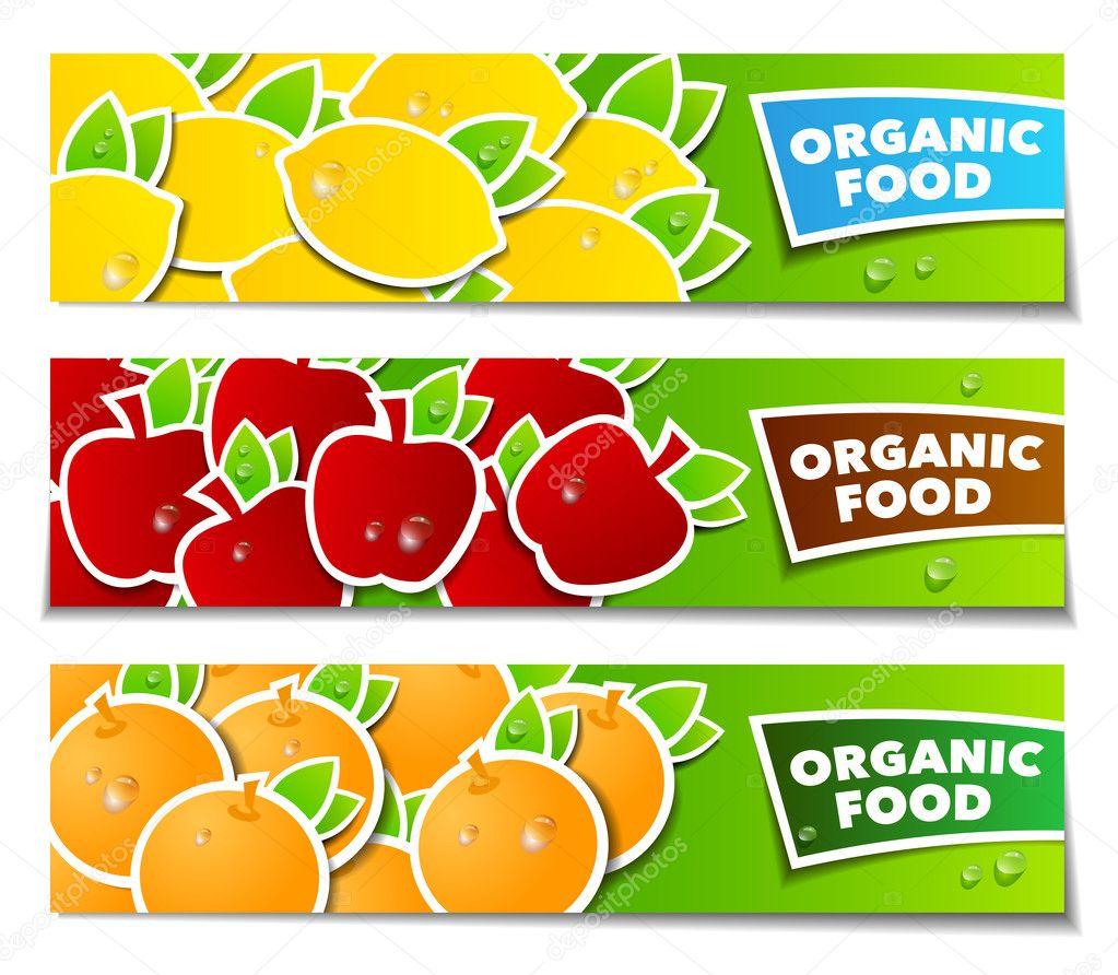 Fruit organic banner