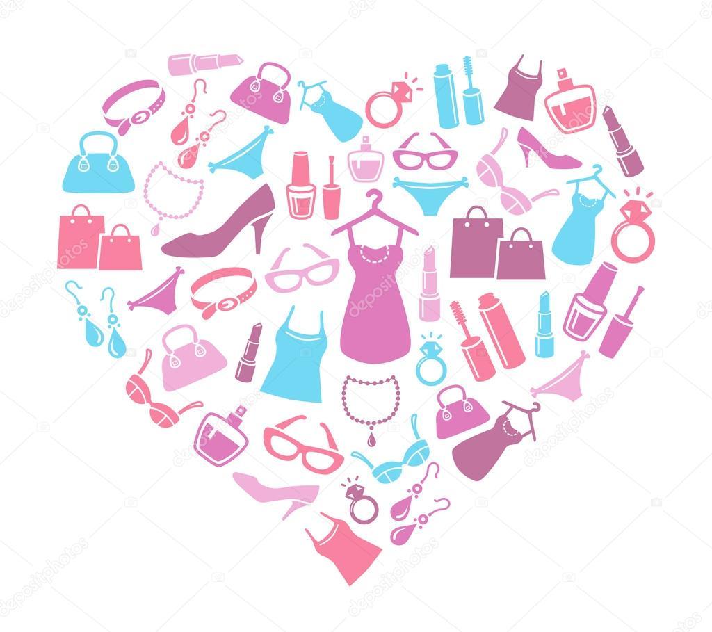 4b8ec8b9da26 Women Love Shopping — Stock Vector © annafrajtova #41271495