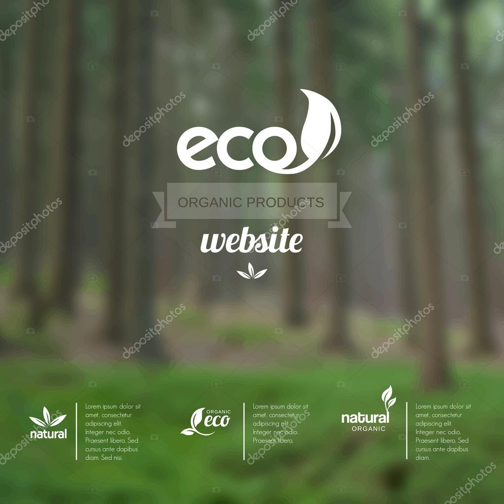 Vector blurred background - template for eco website or leaflet