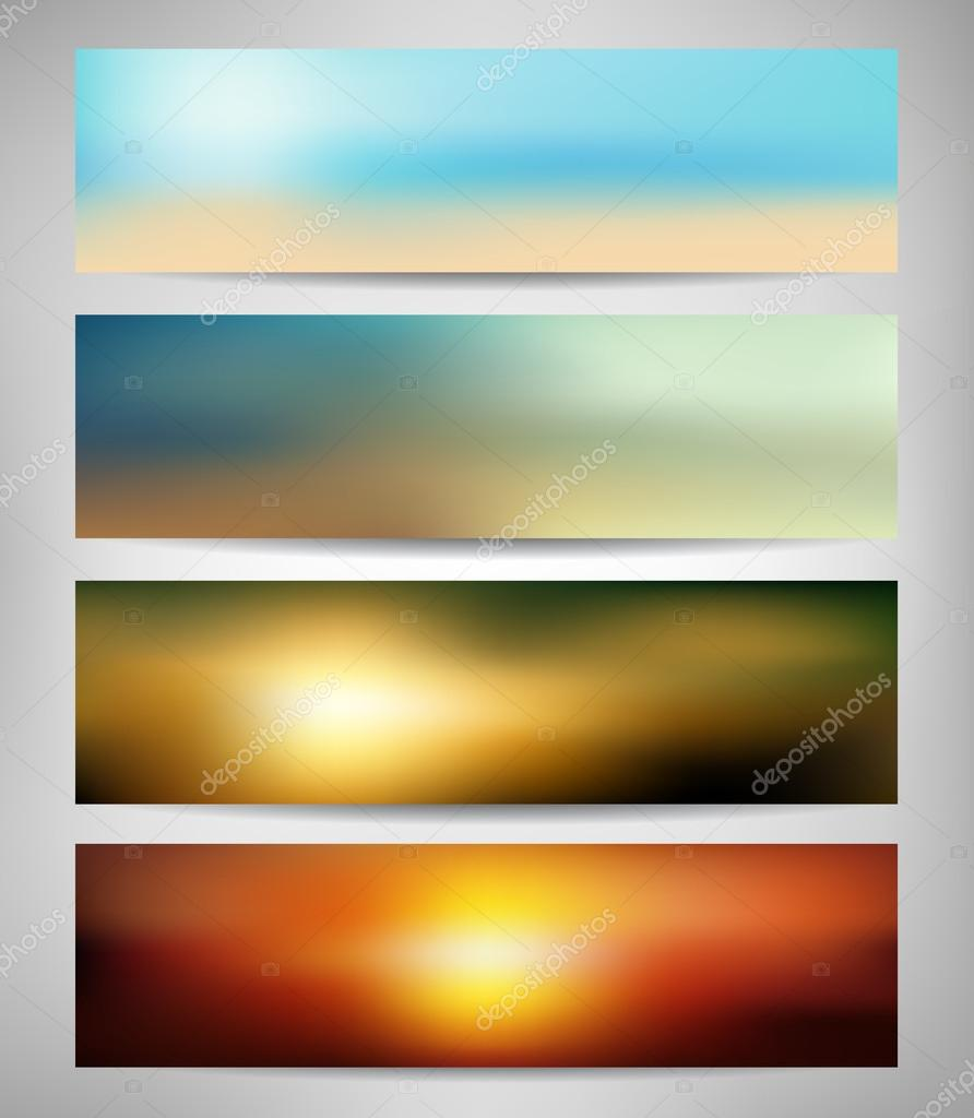 Summer Blurred Abstract Banners