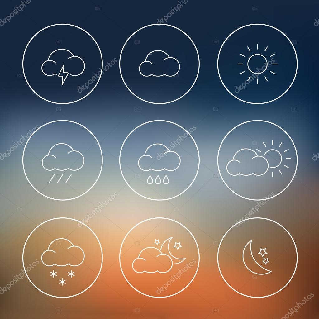 Weather Icons Flat Design