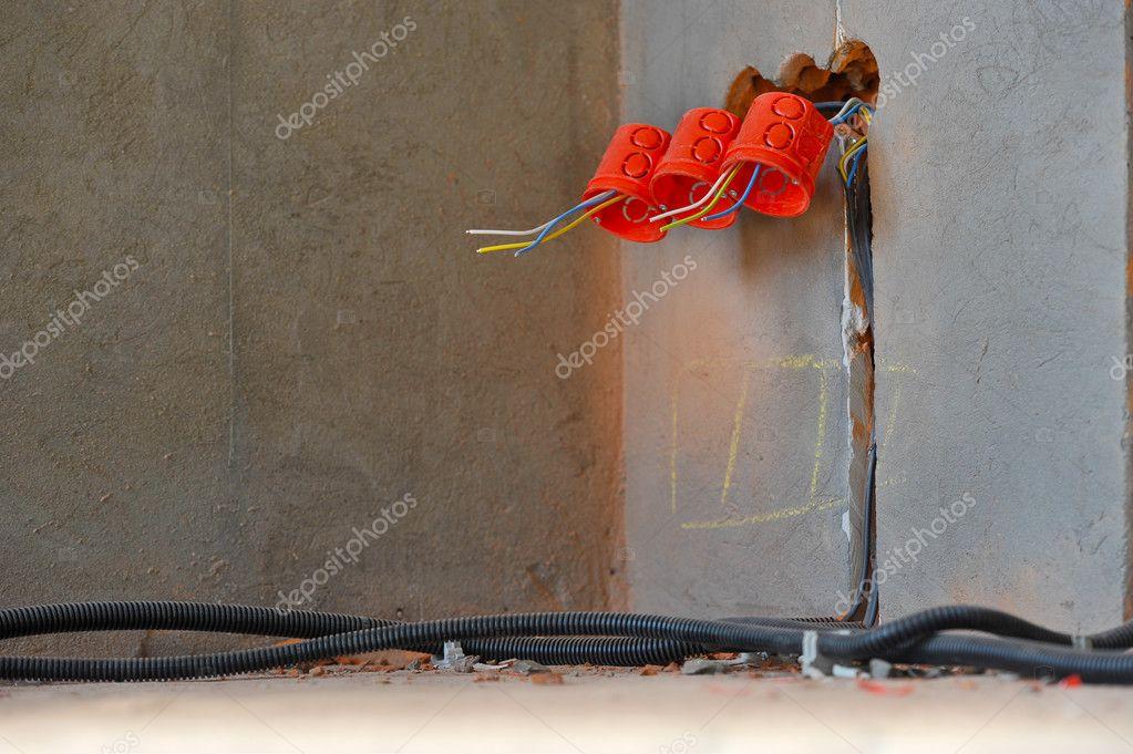 Haus Im Bau Und Reparatur Zu Hause. Elektrizität. Horizontale U2014 Foto Von  Glenkar