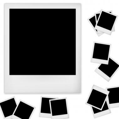 Polaroid photo frame isolated on white background. Vector illustration. EPS10 opacity stock vector