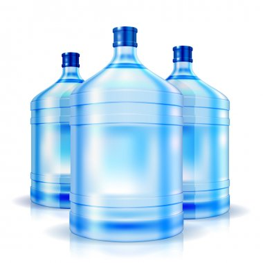 Three big bottles of water for cooler