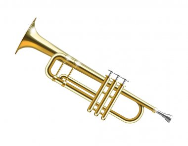 Trumpet isolated