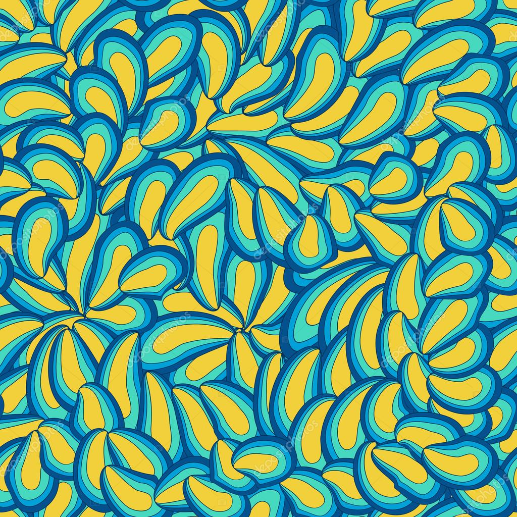 Abstract hand-drawn petal pattern