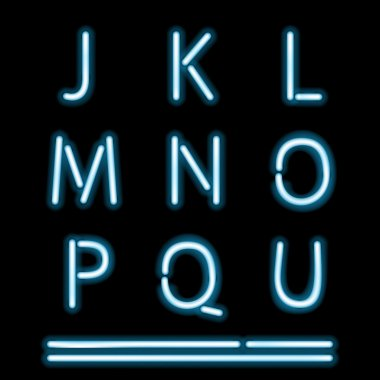 Neon Light Alphabet 2