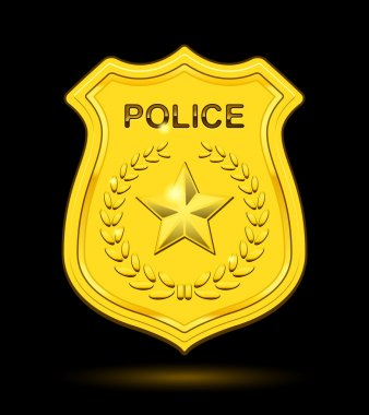 Gold Police Badge