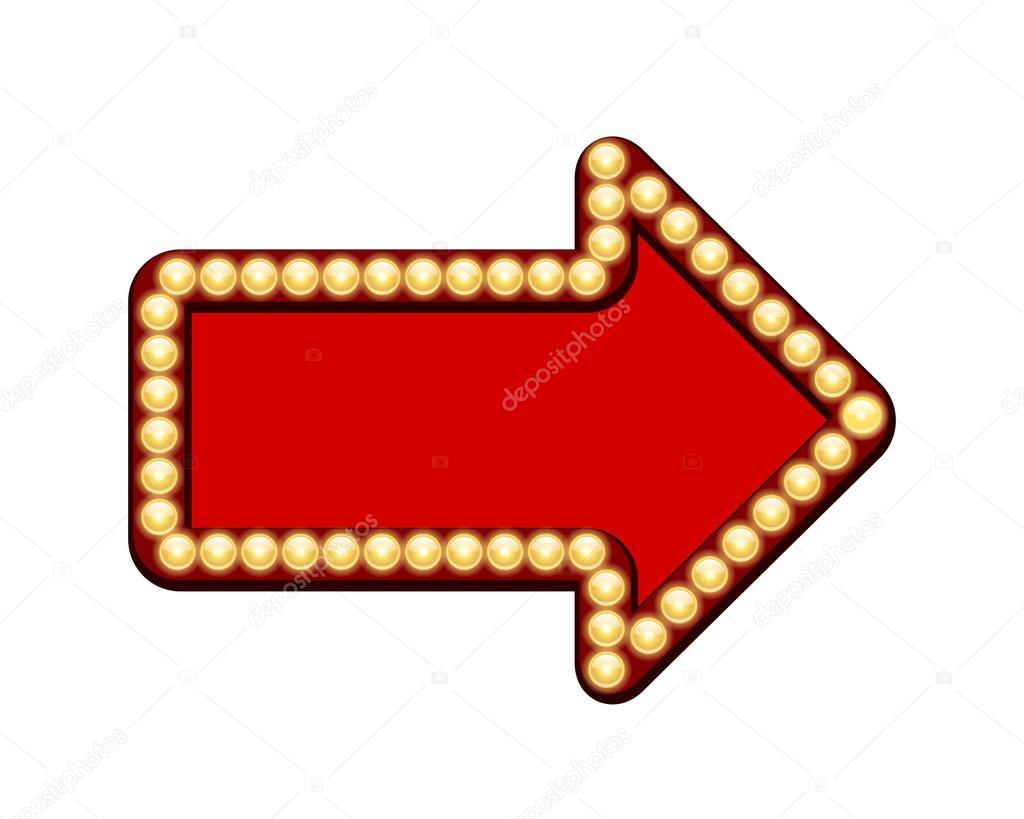 Roter pfeil mit gl hbirnen stockvektor mssa 28989949 for Roter ledersessel