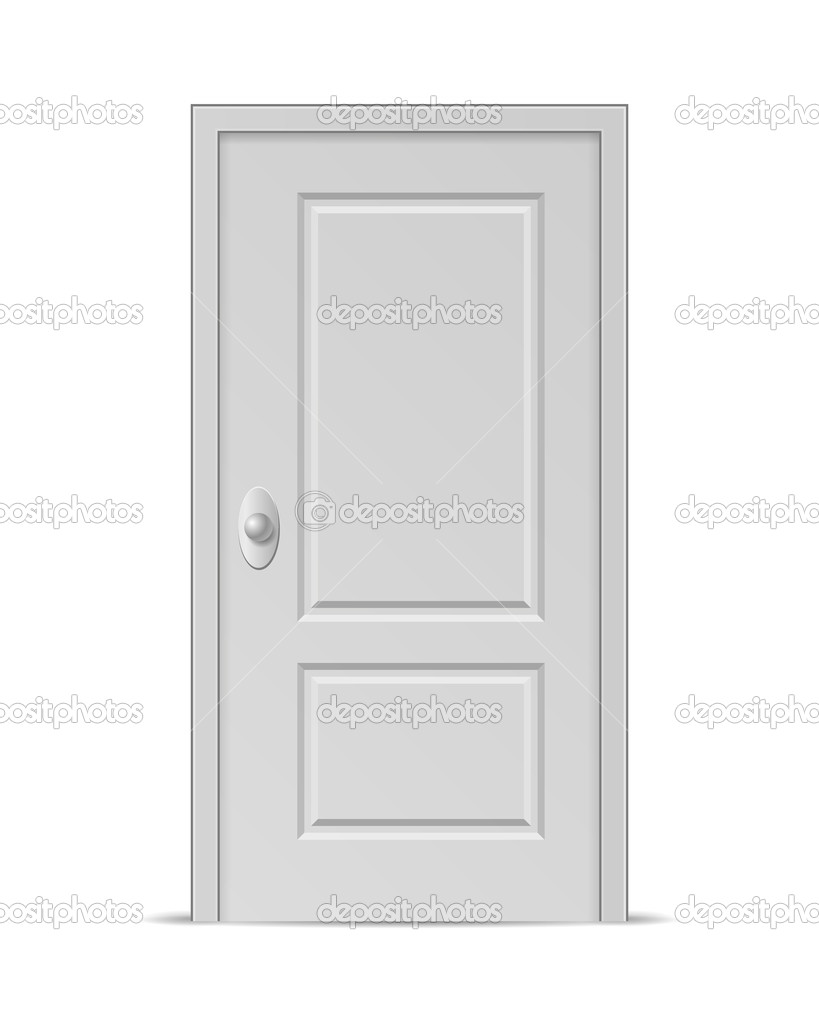 Geschlossene tür zeichnung  Tür — Stockvektor #30388989