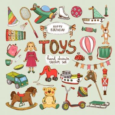 Happy birthday toys set