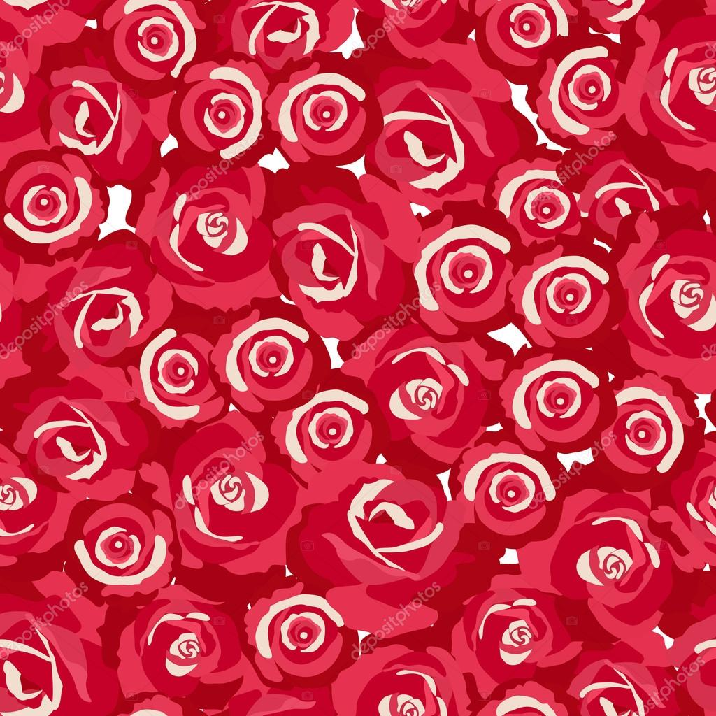 Seamless pattern of rosebuds