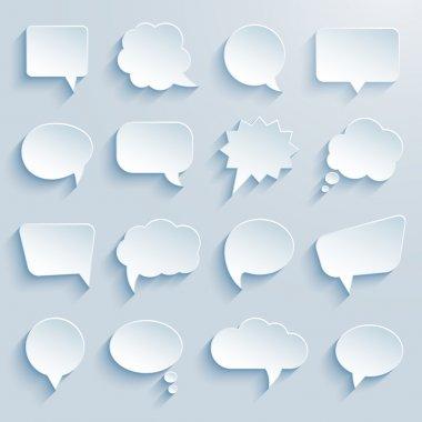 Paper communication bubbles