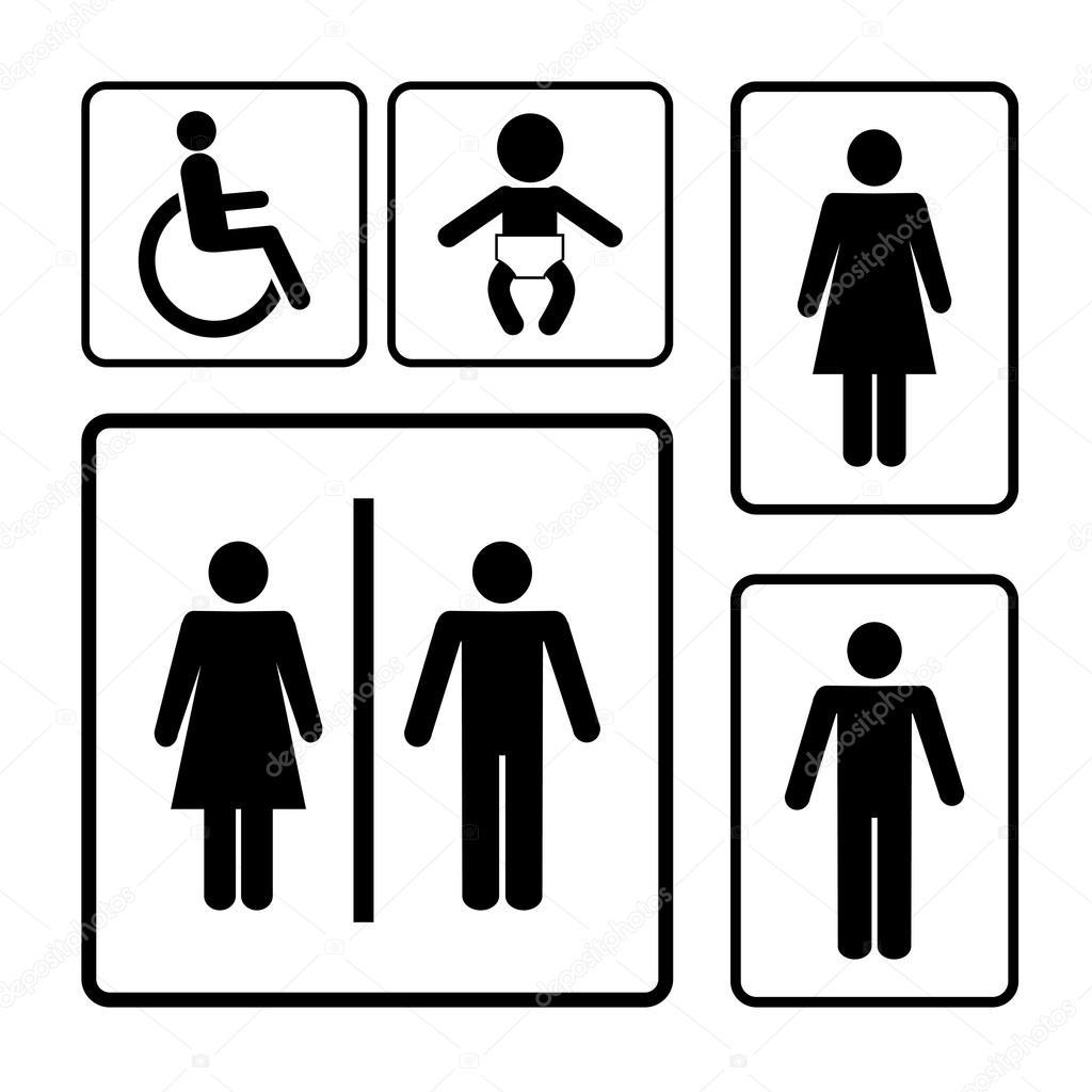 restroom signs stock vector mssa 43673707 rh depositphotos com restroom signs vector free download restroom symbol vector image free
