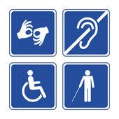 Behinderte Schilder